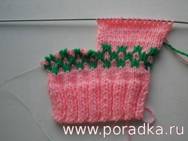 вязание щиколотки