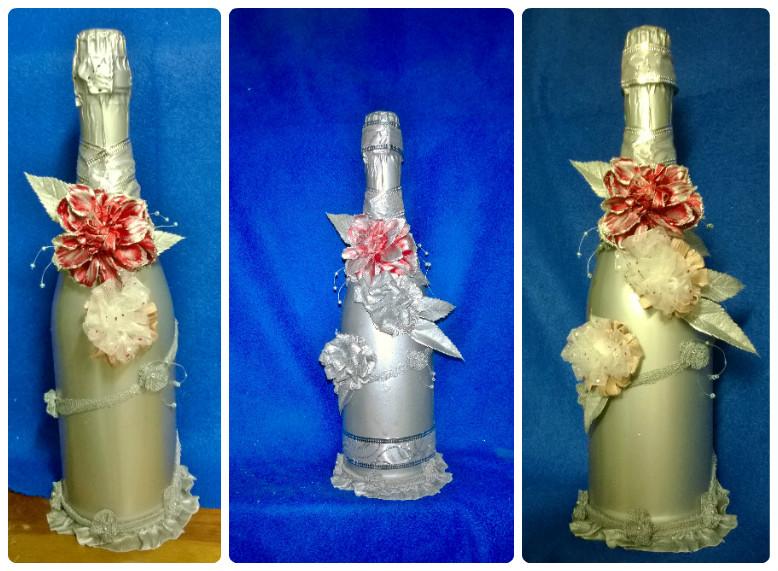 Украшаем бутылки для шампанского своими руками фото 216
