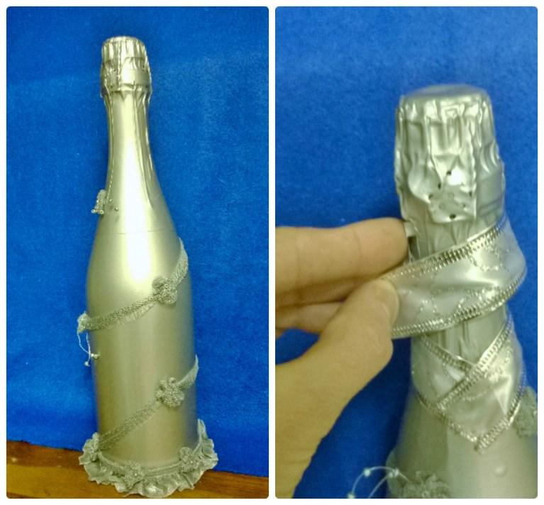 Декор бутылок шампанского своими руками мастер класс 20