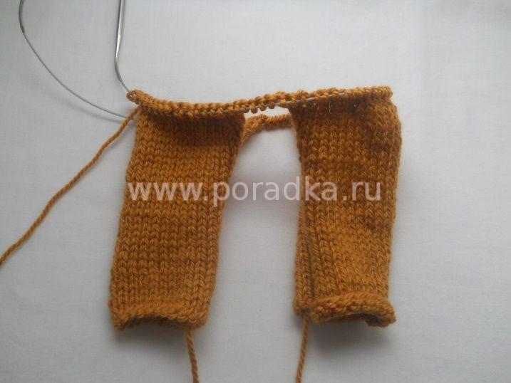 вязание верха штанишек