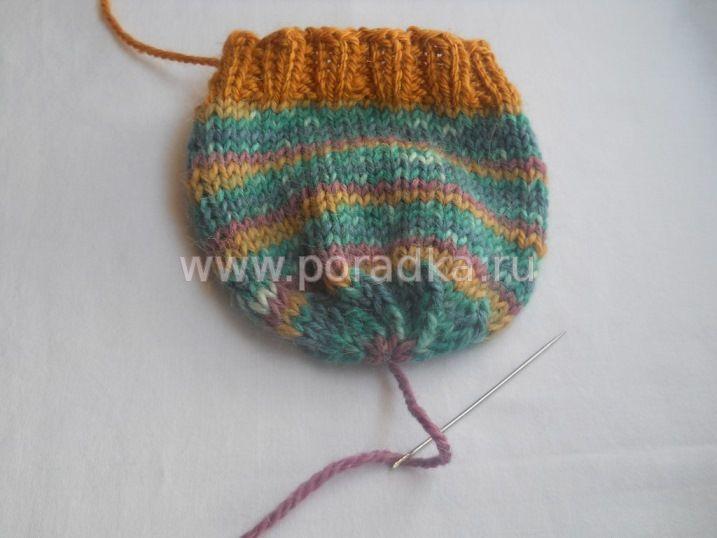 шапочка спицами для новорожденного
