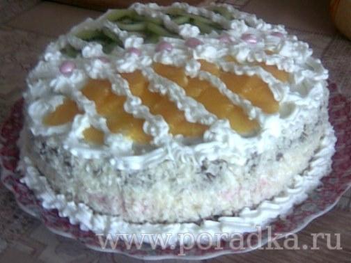 Как приготовить торт с фруктами в желе