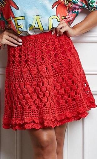как связать юбку крючком