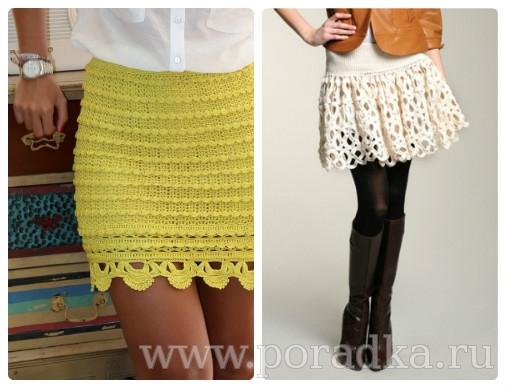 Вязанная юбка крючком на лето