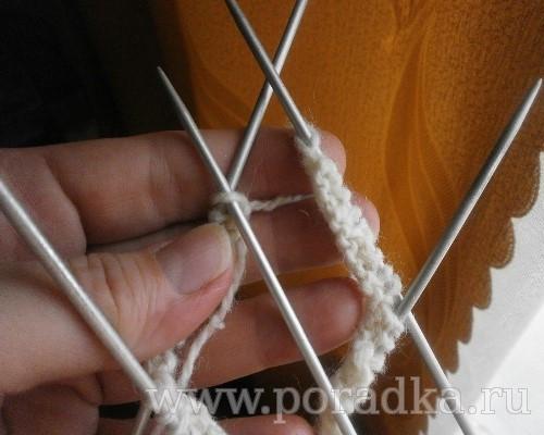 Вязание следков на 5 спицах