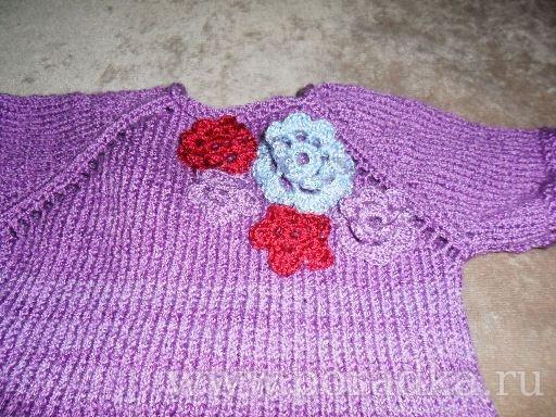 вязание крючком платье на девочку 1 год