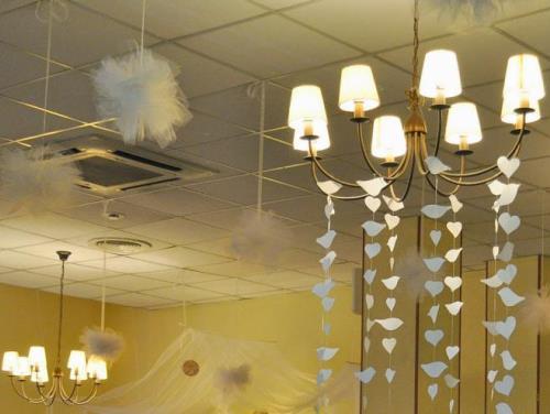 новогоднее украшение потолка