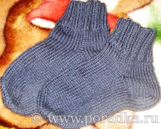 как связать детские носки 5 спицами для начинающих