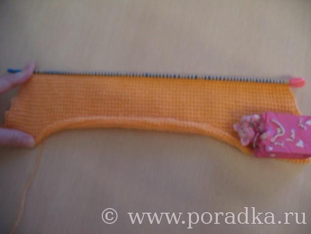начало вязания рукава