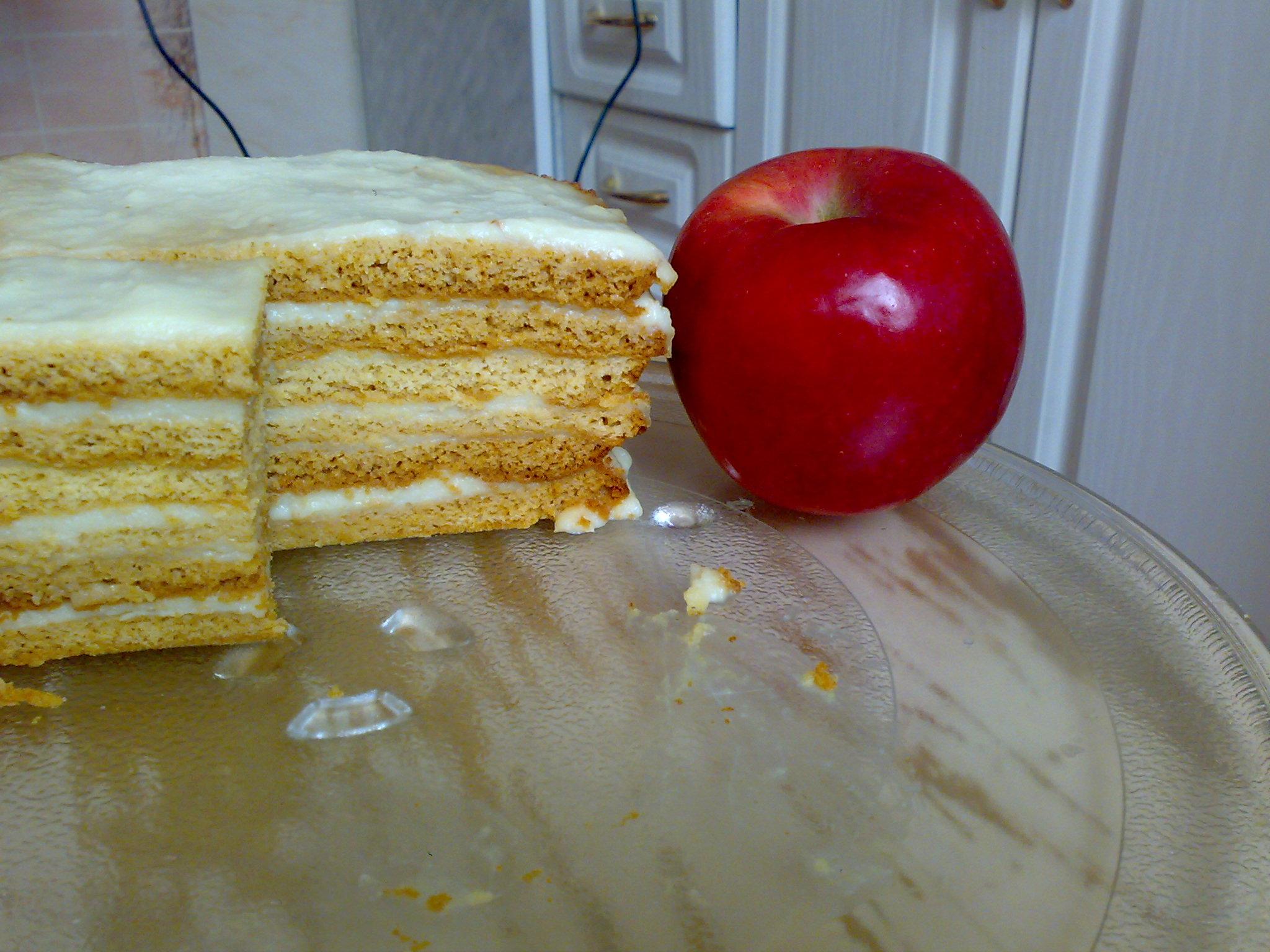 Медовый торт легкий в домашних условиях 650