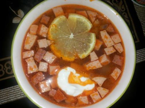 рецепт приготовления солянки сборной с колбасой