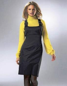 Модные теплые туники и короткие платьица 54