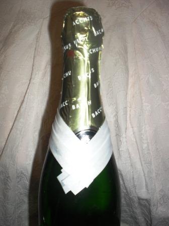 украшение свадебной бутылки жених