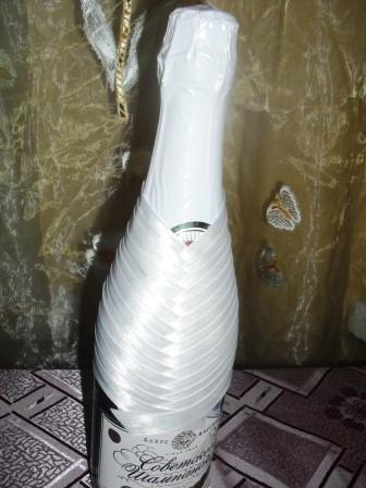 декорирование шампанского Невеста