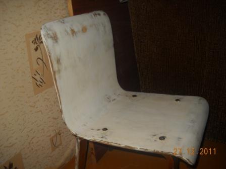 декупаж старого стула