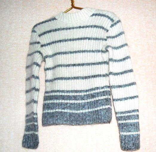 свитер в полоску спицами
