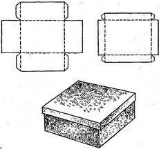 выкройка коробки органайзера