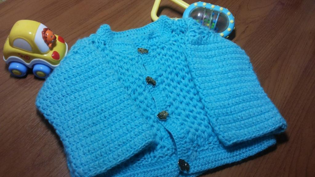 Вязание спицами простая кофточка для новорожденного